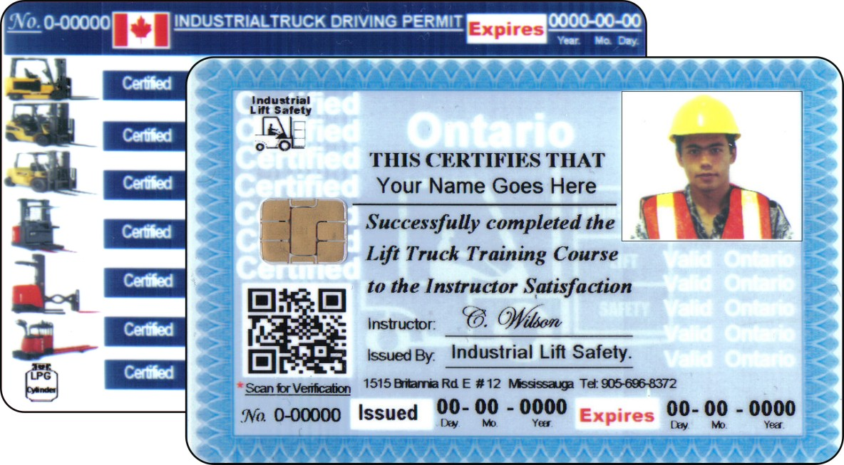 The gallery for forklift safety accidents for Forklift licence template